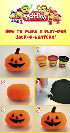 How to make a Play-Doh Jack-o-Lantern!