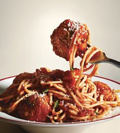 Spaghetti and Meatballs All'Amatriciana: Where I got my inspiration for my famous bacon meatballs
