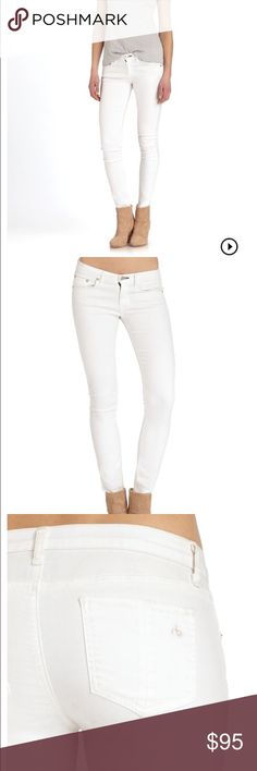 Rag & bone jeans White rag and bone jeans they're stretchy unlike some of their other jeans but they are not jeggings. They're a size 24 and very comfortable! I ❤️ offers rag & bone Jeans Skinny