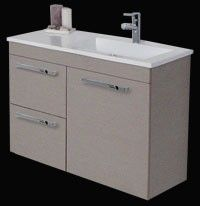 ADP Alpine Full Poly Vanity R/h Basin Wall Hung 900mm for ensuite