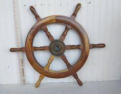 vintage ship's wheel