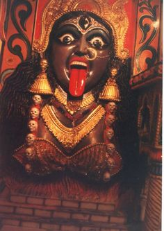 I am KALI, the dark mother of India. I preside over death and rebirth. My cruelty, in clearing away the old, grows from my creativity, in making way for the new. I complete the circle of life.