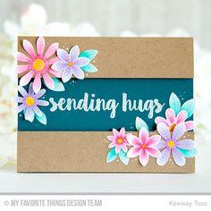 Sensational Stitched Flowers Card Kit - Keeway Tsao  #mftstamps