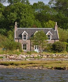 Gracies Cottage, on the shore of Loch Kishorn West Coast Highlands of Scotland
