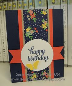 Stampin' Up!- A clean & simple card, using the Affectionately Yours DSP & the 'Tin of Cards' stamp set!