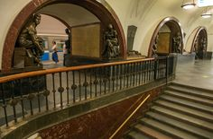 Στάση μετρό Ploschad Revolyutsii Moscow Metro, World Famous, Most Beautiful, Stairs, Stairway, Staircases, Stairways, Ladders