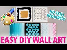 5 DIY Wall Art Designs Anybody Can Make! | @karenkavett - YouTube