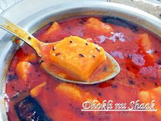 Dhokli nu Shaak - A Gujrati Speciality for Indian Cooking Challenge - Ribbons to Pastas Gujarati Cuisine, Gujarati Recipes, Indian Food Recipes, Ethnic Recipes, Bangladeshi Food, Bengali Food, Rajasthani Food, Indian Side Dishes, Vegetarian Appetizers