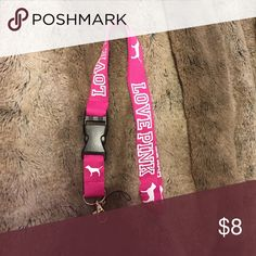 VS LOVE PINK pink lanyard New vs love pink lanyard. New never used PINK Victoria's Secret Accessories