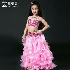 2016 Sale Cotton Wuchieal Brand High Grade Bellydance Costumes 2017 New Kid Girls Belly Dance Performance Top+skirt Suits Cute Girl Outfits, Dance Outfits, Dance Dresses, Belly Dance Bra, Belly Dance Costumes, Kids Girls, Cute Girls, Baby Cosplay, Beautiful Costumes