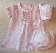 this would be a cute bringing home baby outfit :) add tights and a cardigan.