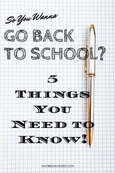 Continuing education can be stressful and a little scary. Here's the advice I wish someone had given me about going back to school as an adult!