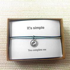 Yin und Yang liebe paar Armband seine und von ShirleyLaiterDesigns