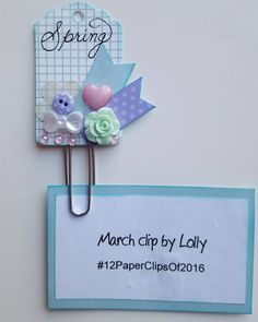 Lolly's March clip for #12PaperClipsOf2016 #clipart #paperclipart #paperclipcraft
