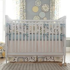 Spa Pom Pon Play Crib Bedding | Carousel Designs