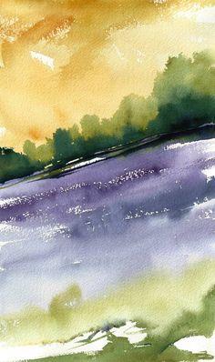 """Bluebell Field"" 2015 (c) stefania boiano #watercolour #painting #landscape #art…"