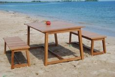 Oregon dining set, outdoor furniture. Made from teak wood Project for Wisanka