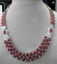 Cartier, Ruby and Diamond Necklace