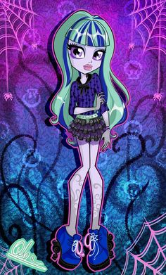 Monster High - Twyla by Arte Monster High, New Monster High Dolls, Monster High Characters, Monster High Pictures, Cartoon Monsters, Mattel, Manga, Decoration, Anime