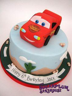 Lightning McQueen - Cars Cake