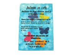 Believe in Life  Inspirational Art. by UniquelyYourDigiArt on Etsy, £4.00