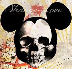 Cráneo del ratón de Mickey Poster cartel de por StrangeLoveTees, $10,00