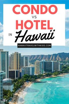 Looking for a place to stay in Hawaii? Find out the perks of staying in a hotel vs condo and which one will save you the most money. Hawaii Tourism, Hawaii Travel Guide, Family Vacation Destinations, Best Vacations, Travel Destinations, Hawaii Honeymoon, Hawaii Vacation, Travel With Kids, Family Travel