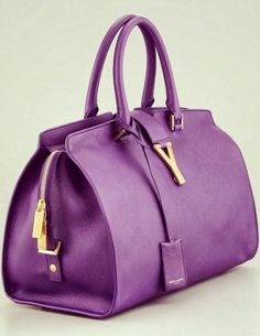 a3d2175cd2 Saint Laurent Cabas Chyc Medium Soft Leather Bag in Purple (amethyst) - Lyst  Love a satchel
