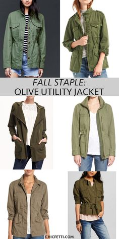 Check out our picks for the perfect fall staple - the olive utility jacket