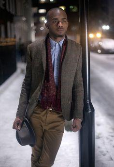 Harris Tweed Suit modelled by Martell