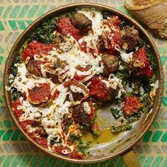 Meatball & Creamed Spinach Skillet - EatingWell.com