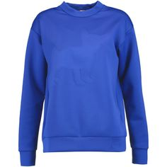 Etre Cecile Bonded neoprene-jersey sweatshirt (350 SAR) ❤ liked on Polyvore featuring tops, hoodies, sweatshirts, royal blue, blue sweatshirt, blue jersey, jersey tops, neoprene top and royal blue sweatshirt