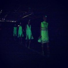 Surprise and delight at Alexander Wang: Glow in the dark! #nyfw