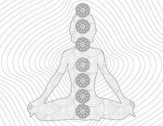 Meditation Chakras Color Page