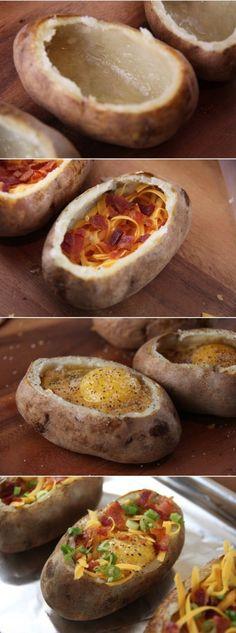 An Idaho Sunrise: Egg-Stuffed Baked Potatoes
