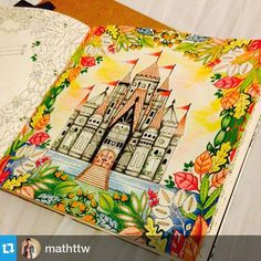 #Repost @mathttw  #florestaencantada #enchantedforest #livrodecolorir #secretgarden #jardimsecreto #castle