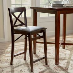 "Andover Mills 24"" Bar Stool with Cushion & Reviews 
