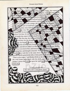 Zentangle on a book page.  Yep, I am doing it...just as soon as I get out of school!