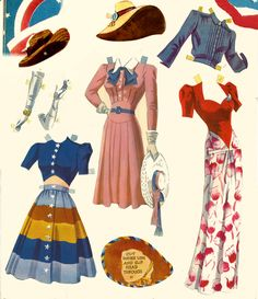 Free Printable Paper Dolls 1950 | My favorites so far are Girl Pilots of the Ferry Command , Army Nurse ...