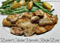 Easiest Chicken Marsala Recipe Ever! #chicken #recipe #easy