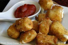 Fresh mozzarella bites. Like cheese sticks, but WAY classier and more delightful, because OMG fresh mozzarella