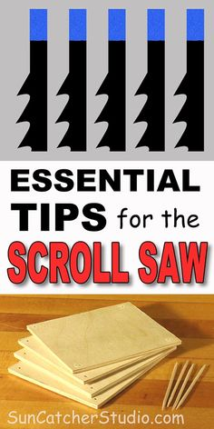 Scroll Saw blades, stack cutting, lighting, and other tips including safety, buying a used scroll saw, and compound cutting.