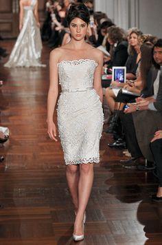 Romona Keveza Couture short wedding dress, Fall 2012