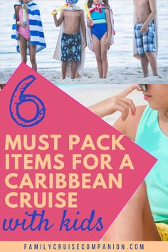 When planning a Caribbean cruise with kids, you will definitely want to pack these 6 items. These simple items will contribute to the fun factor for your kids and your own peace of mind. But, if you leave them behind, it will add to your aggravation, and unnecessarily inflate your expenses. who wants that? Be sure to add these to your family's Caribbean cruise packing list today. Toddler Cruise, Toddler Travel, Travel With Kids, Packing List For Cruise, Cruise Tips, Cruise Vacation, Best Family Vacations, Family Cruise, Family Travel