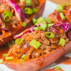 Pulled Pork-Stuffed Sweet Potatoes
