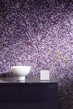 Perini Tiles- The Opera 25 glass mosaic range was launched by Bisazza with the recent release of the 2013 Mosaic Collection Pink Pages, Bathroom Design Inspiration, Glass Mosaic Tiles, Modern Glass, Color Tile, Recycled Glass, Decor Interior Design, Decorative Bowls, Colours