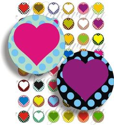 These digital images are perfect to stand out on glass, wood or metal pendants. Also you can use them on many project you can to create as stickers, magnents, buttons, bottle caps, earrings, ect.    You will receive 48 circle each measuring 1x1 inch.    Custom sizes available.    This Sheet of Images have been formatted within an 8 ½ x 11 page and will be sent to you in 300dpi high resolution JPG format via email (without the watermark) within 24 hours to the address you provide.    You can…