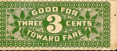 Cleveland Railway Co. Ticket- Would be great as a gift certificate design!