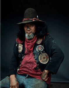 Membro della Mongrel Mob una delle bande più pericolose della Nuova Zelanda (Visita il nostro sito templedusavoir.org)