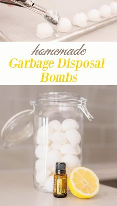 These homemade garbage disposal deodorizer Bombs remove odors, grease, and buildup that can stink up your home. Diy Home Supplies, Homemade Cleaning Supplies, Diy Home Cleaning, Household Cleaning Tips, Cleaning Hacks, Household Cleaners, Green Cleaning, Diy Cleaners, Cleaners Homemade